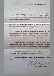 Carta H. Sobral Pinto a Fontes de Alencar