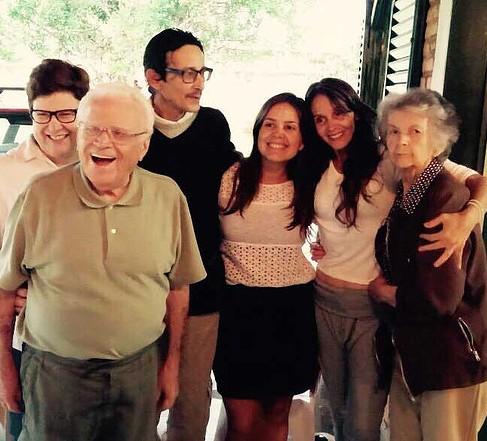 Momentos preciosos na chácara, com o filho Luiz Carlos e as filhas Gisela, Moema e Daniela (2014)